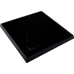 Display for 9 jewellery boxes (5500/5502) Black/ Black foam 230 x 230 x 25