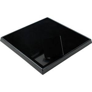Display voor 9 sieradendoosjes (5504) Zwart / Zwart voor 62 x 62 mm doosjes 230 x 230 x 25