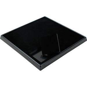 Display for 9 jewellery boxes (5504) Black / Black for 62 x 62 mm boxes 230 x 230 x 25