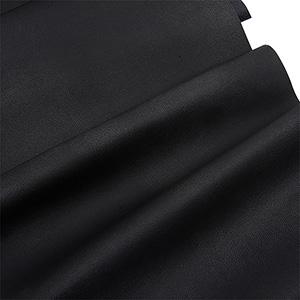 Nabuca leatherette, per length meter Black 130 x 1