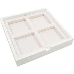 Bakke 4x Universal Hvid/Hvid Mål på rum: 85x85 mm 237 x 237 x 38