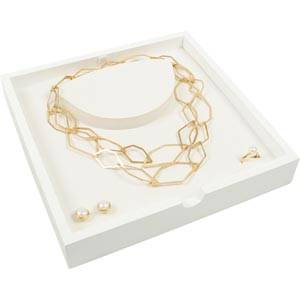 Tray Jewellery Set White tray / White inserts 237 x 237 x 38