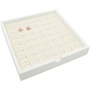Bakke 49x Bead/vedhæng Hvid/Hvid Mål på pude: 20x20mm 237 x 237 x 38