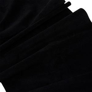 Material welurowy na metry Czarny 140 x 1