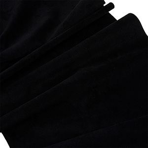 Velour fabric, per linear metre Black 140 x 1