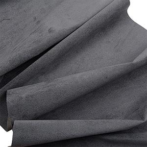 Velour fabric, per linear metre Dark Grey 140 x 1