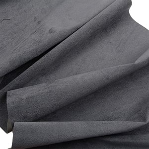 Velour fabric, per linear metre Dark Grey 140 x 1