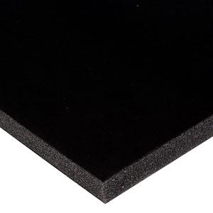 Foam bekleed met velours, 15 mm dik