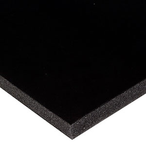 Foam covered with velour, 15 mm thick