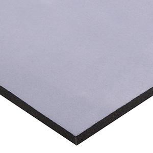 Skum beklædt med velour, 15 mm tykt