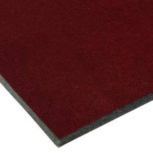 Skum beklædt med velour, 7 mm tykt