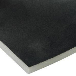 Foam bekleed met velours, 10 mm dik