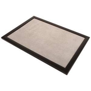 Plateau de présentation pour bijoux Cadre en bois noir mat/ Coussin velours gris clair 390 x 270