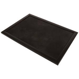 Plateau de présentation pour bijoux Cadre en bois noir mat/ Coussin similicuir noir 390 x 270