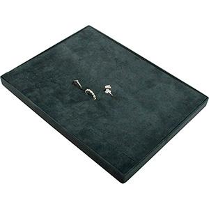 Insats till liten kassett: 60x Ring Mörkgrå mellanrum / mörkgrå kudde i velour 207 x 274