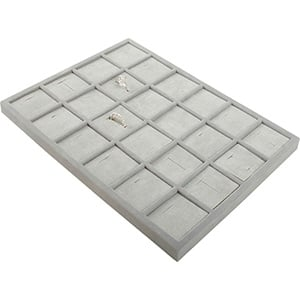 Insertion pour petit plateau : 24 bagues larges