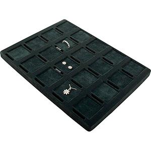 Einsatz kleines Tablett:20x Ring/Ohrringe/Anhänger