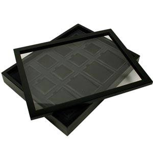 Lid for jewellery trays glossy wood