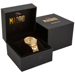 Madrid Jewellery Box for Watch / Bangle Matt Black Soft-touch / Black Velour Interior 100 x 100 x 74 88 x 82 x 38 mm