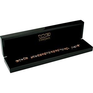 Berlin opakowania na bransoletki, zegarki Czarne błyszczące / czarna wkładka  250 x 57 x 32 (235 x 42 x 22 mm)