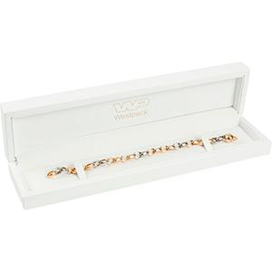 Berlin opakowania na bransoletki, zegarki Białe błyszczące / biała wkładka  250 x 57 x 32 (235 x 42 x 22 mm)