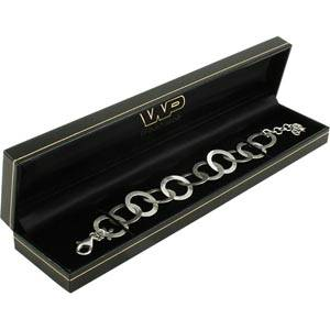 Bombay opakowania na bransoletkę Czarne skóropodobne/ czarna wkładka 227 x 50 x 26 (222 x 39 x 22 mm)