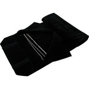 Trousse-rouleau 36 colliers, anneaux crochets Velours noir 655 x 290 x 700 (615 x 245 mm)