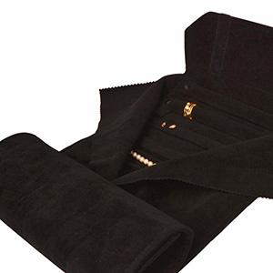 Trousse-rouleau pour parures Velours noir 230 x 45 (625 x 210 mm)
