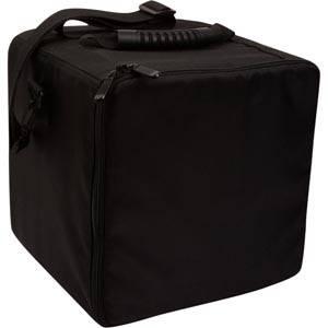Præsentationstaske med lynlås til bakker Sort nylon - ekskl. bakker 270 x 270 x 270