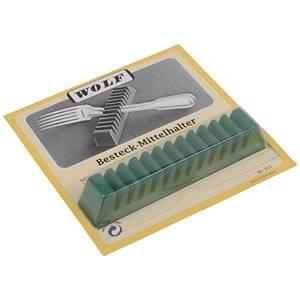 Supports universels pour 12 fourchettes/cuillères Plastique recouverts de velours vert anti-oxydant 125 x 20