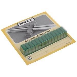 Supports universels pour 12 couteaux Plastique recouverts de velours vert anti-oxydant 120 x 20