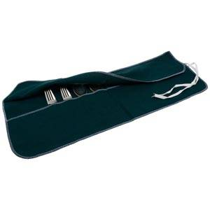 Cutlery roll 12 pcs, medium Green 210 x 610