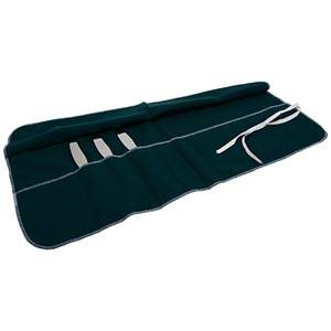 Cutlery roll 12 pcs, large Green 270 x 640