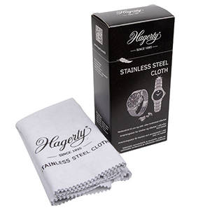 Hagerty Stainless Steel Cloth Poetsdoek voor sieraden en horloges in RVS 300 x 360