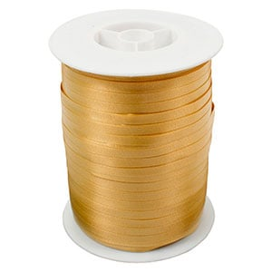 Plain ribbon, narrow Gold  5 mm x 500 m
