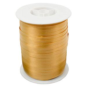 Plain ribbon, narrow Gold  5 mm x 500 m