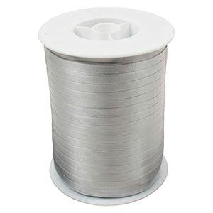 Geschenkband Plain (schmal) Silber  5 mm x 500 m