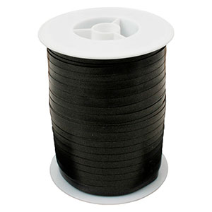 Wstążka - plain wąska Kolor czarny  5 mm x 500 m