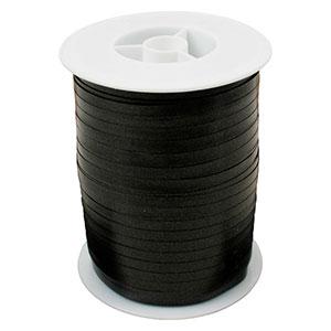 Plain ribbon, narrow Black  5 mm x 500 m