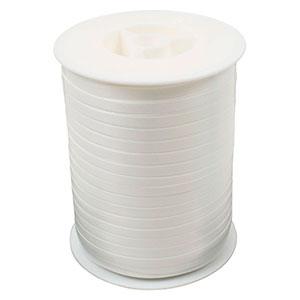 Geschenkband Plain (schmal) Weiß  5 mm x 500 m