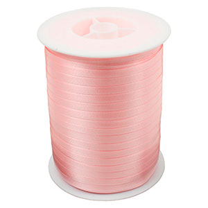 Plain ribbon, narrow Rose  5 mm x 500 m