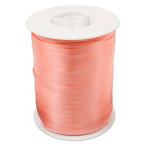 Plain ribbon, narrow Peach  5 mm x 500 m
