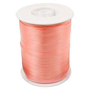 Plain ribbon, narrow Peach  5 mm x 500 m