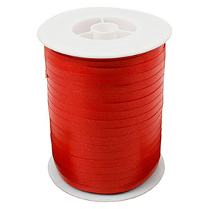 Plain ribbon, narrow Red  5 mm x 500 m
