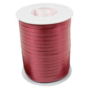 Plain ribbon, narrow Wine red  5 mm x 500 m