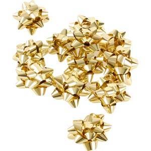 Små stjerner, 100 stk. Guld  Ø 25 mm