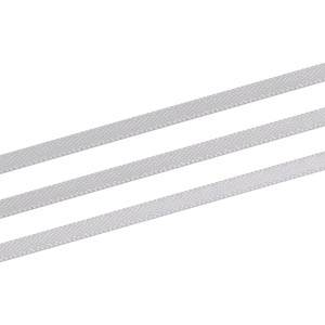 Satinbånd, ekstra smalt Sølv  3 mm x 91,4 m