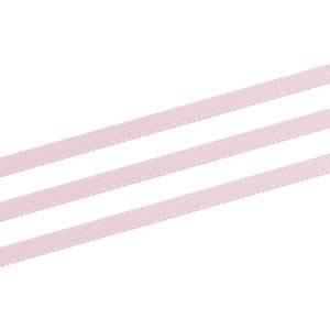 Ruban satin double face, très étroit Rose clair  3 mm x 91,4 m