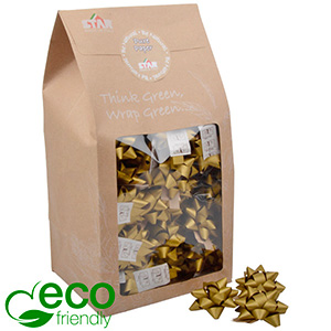 Large Stars, 80 pcs. Gold - 100% recycled paper 60 x 60 60 x 60 mm