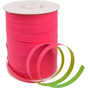 Dwustronna, szeroka wstążka Różowo/Zielona  10 mm x 250 m